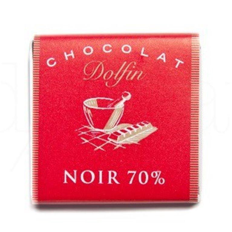 Chocolate Negro 70% Cacao 4,5gr. Dolfin. 360un., 1 ud