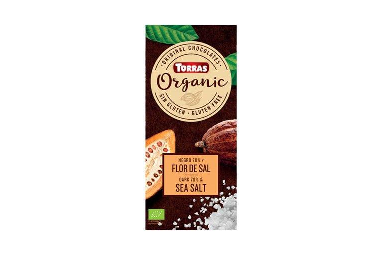 Chocolate negro 70% cacao con flor de sal - Torras