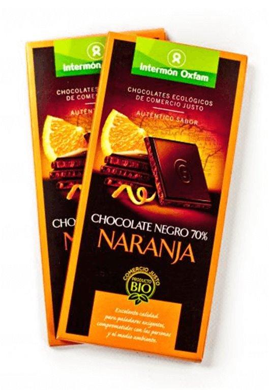 Chocolate negro 70% con naranja, 1 ud