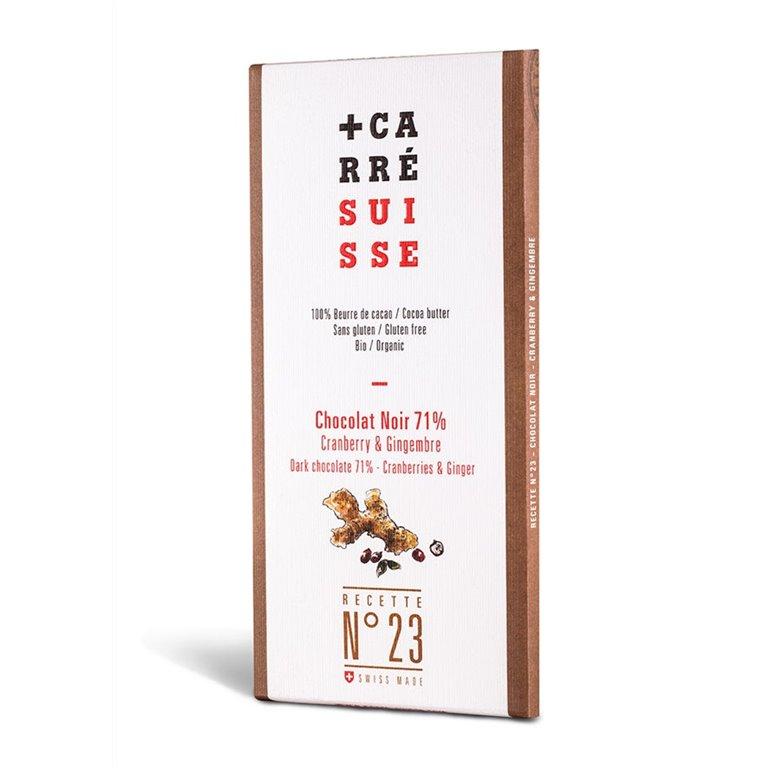 Chocolate Negro 71% Arándanos y Jengibre Bio 100g