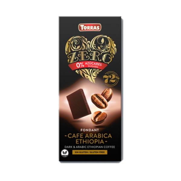 Chocolate Negro 72% Cacao con Café Arábica Sin Azúcar 100g