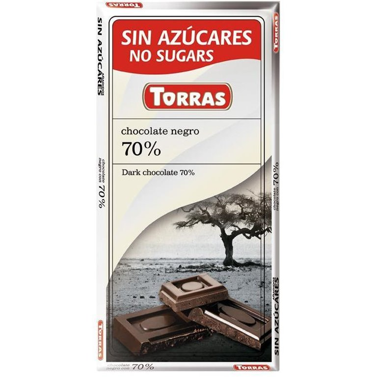 Chocolate Negro 72% Cacao (Sin Azúcar) 75g, 1 ud