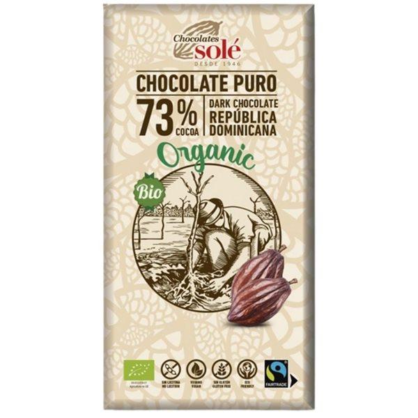 Chocolate Negro 73% Cacao Bio Fairtrade 100g