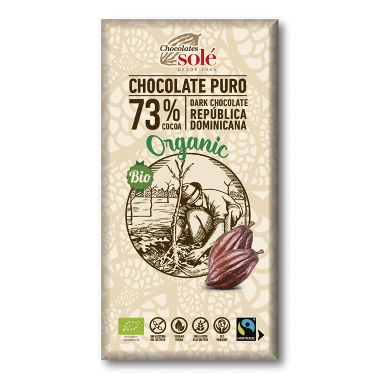 Chocolate negro 73% cacao BIO