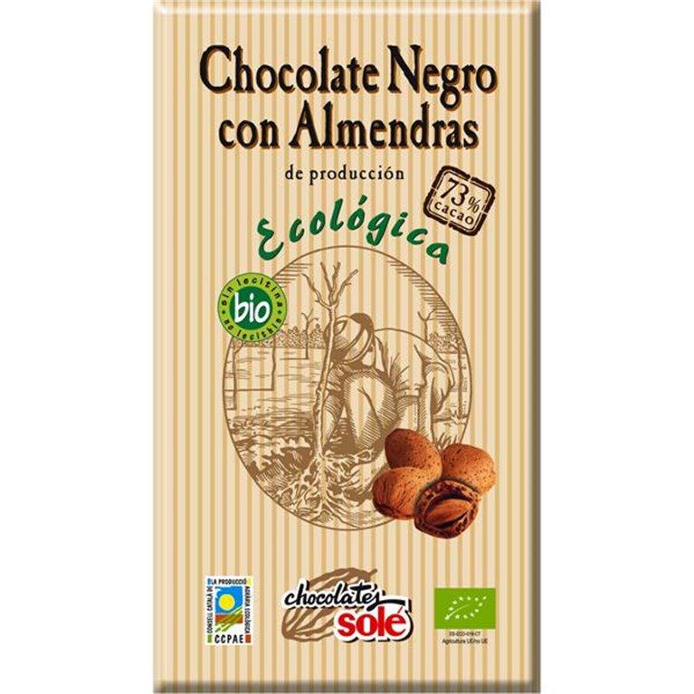 Chocolate Negro 73% Cacao con Almendras Bio 100g