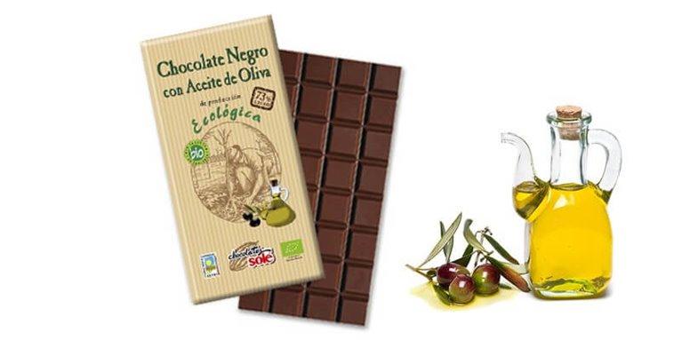 Chocolate negro 73% con aceite oliva - Chocolates solé