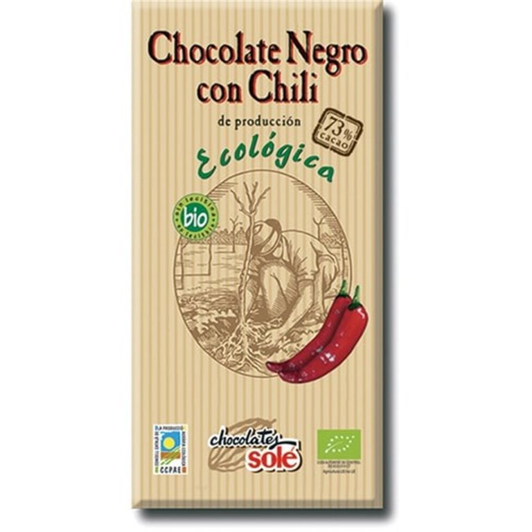 Chocolate Negro con Chili Bio 100g
