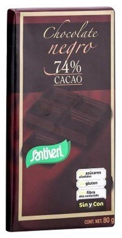 Chocolate Negro 74% Cacao (Sín Azúcar) 80g