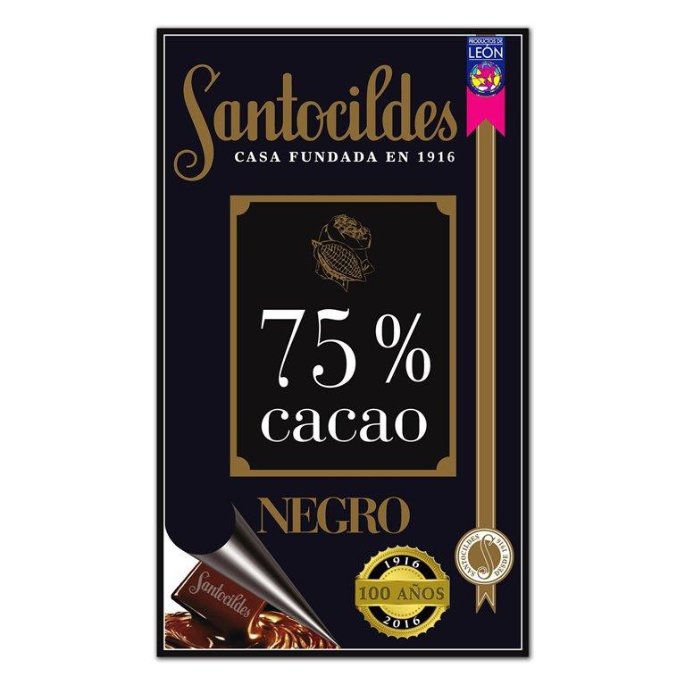 Chocolate Negro 75% Cacao 200 grs SANTOCILDES