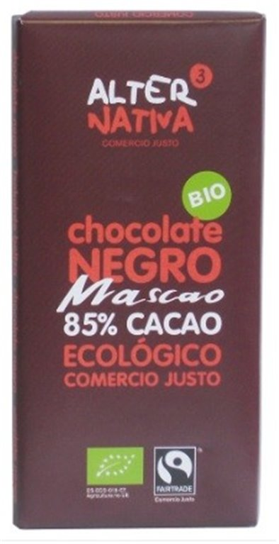 Chocolate Negro 85% Cacao Mascao Bio Fairtrade 80g
