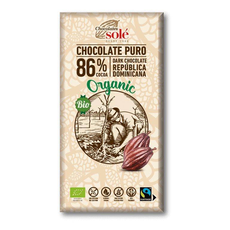 Chocolate negro 86% cacao BIO