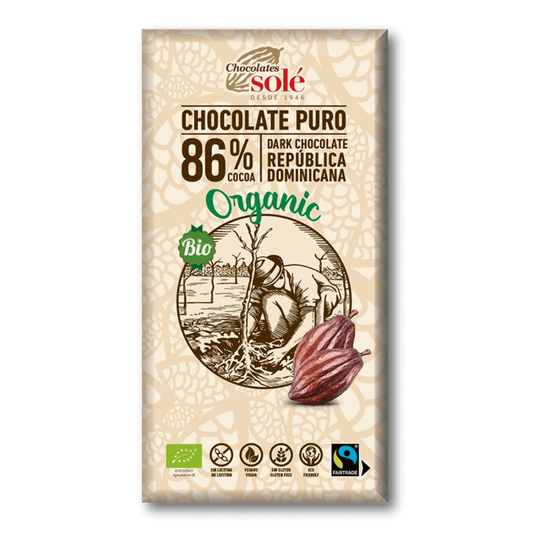 Chocolate negro 86% cacao BIO