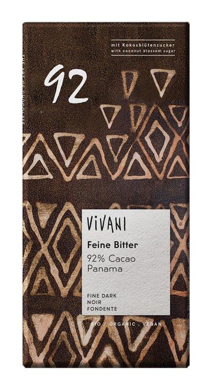 Chocolate Negro 92% Cacao Panamá Bio 80g