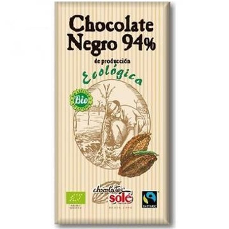 Chocolate Negro 94% Cacao Bio Fairtrade 100g