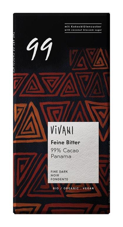 Chocolate Negro 99% Cacao Panamá Bio 80g