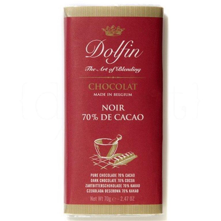Chocolate Negro al 70% de Cacao 70gr. Dolfin. 15un., 1 ud