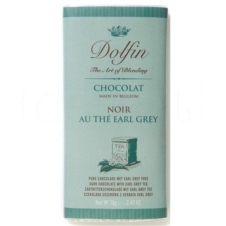 Chocolate Negro al Te Earl Grey 70gr. Dolfin. 15un., 1 ud