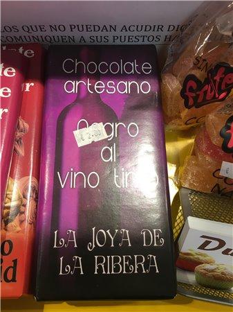 Chocolate negro al vino tinto