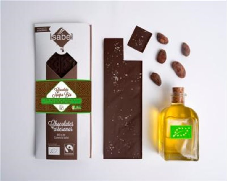 Chocolate negro con aceite y sal Isabel, 1 ud