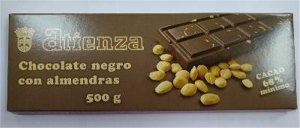 Chocolate negro con almendras 500grs Atienza