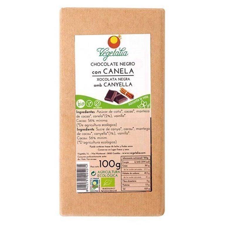 Chocolate negro con canela Vegetalia 100g