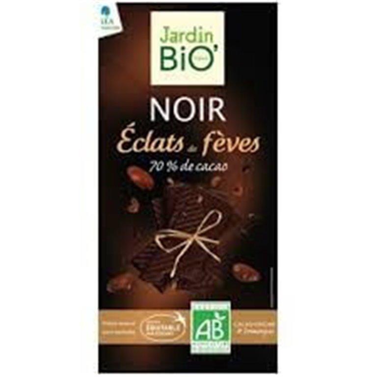 Chocolate negro con Chips de cacao Caramelizado, 100 gr