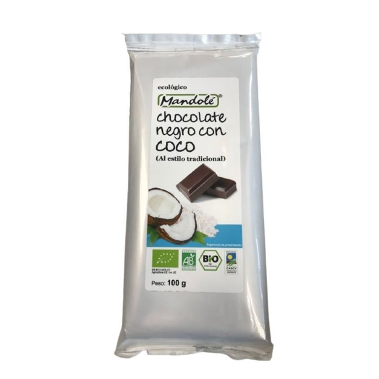 Chocolate Negro con Coco Bio Fairtrade 100g