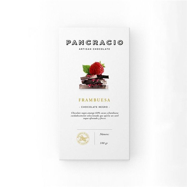 Chocolate negro con frambuesa