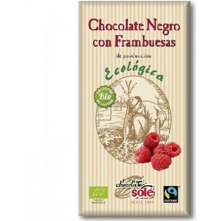 Chocolate Negro con Frambuesas Bio 100g