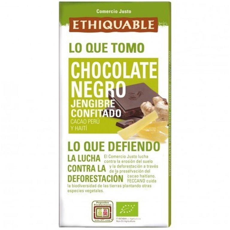 Chocolate Negro con Jengibre Confitado Bio Fairtrade 100g