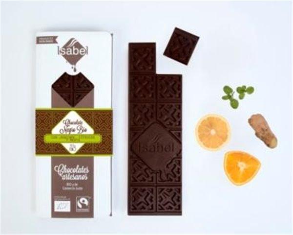 Chocolate negro con jengibre y cítricos Isabel