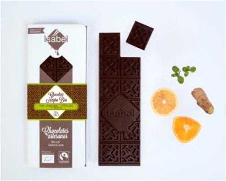 Chocolate negro con jengibre y cítricos Isabel, 1 ud