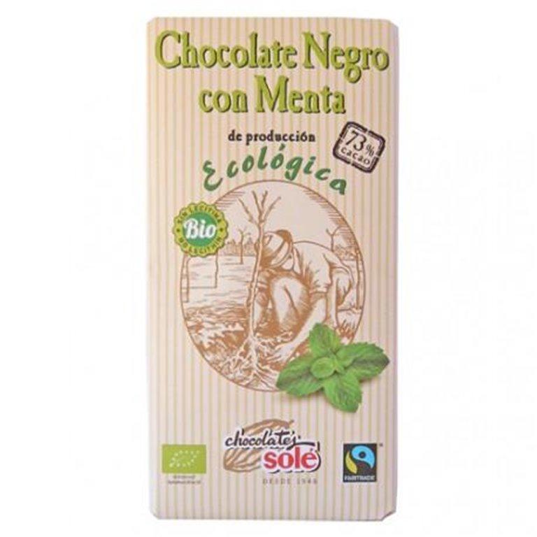 Chocolate Negro 73% Cacao con Menta Bio 100g