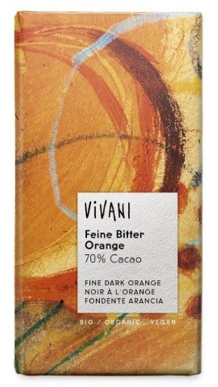 Chocolate Negro 70% Cacao con Naranja Bio 100g
