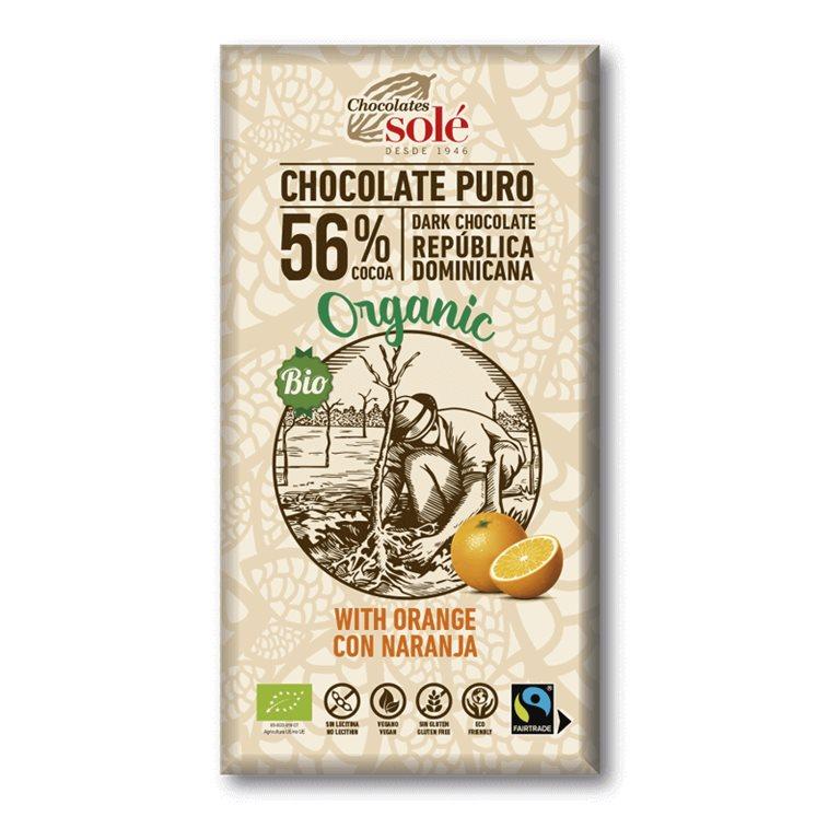 Chocolate negro con naranja BIO
