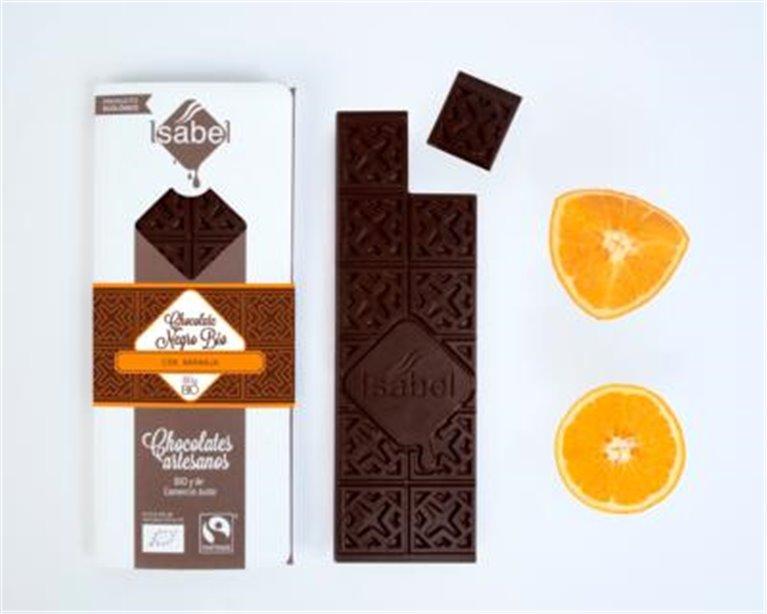 Chocolate negro con naranja Isabel, 1 ud