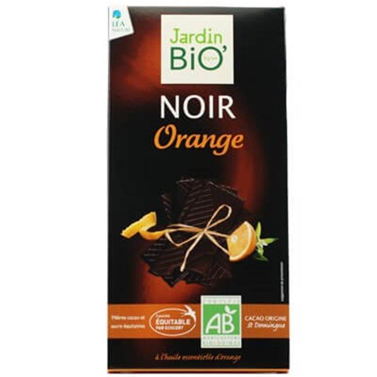 Chocolate negro con naranja, 100 gr