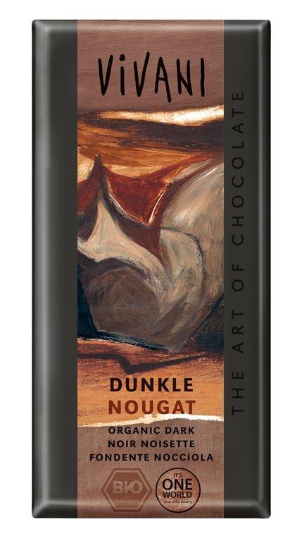 Chocolate Negro con Nougat Bio 100g