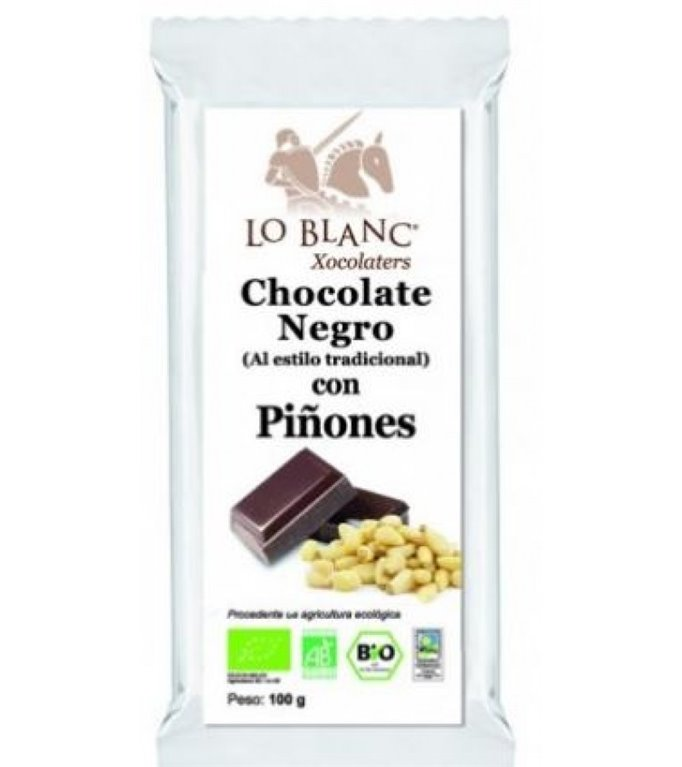 Chocolate Negro con Piñones Bio Fairtrade 100g