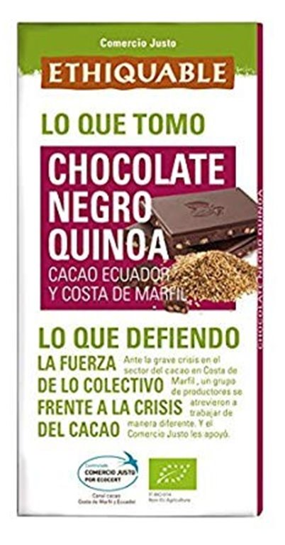 Chocolate Negro con Quinoa Bio Fairtrade 100g