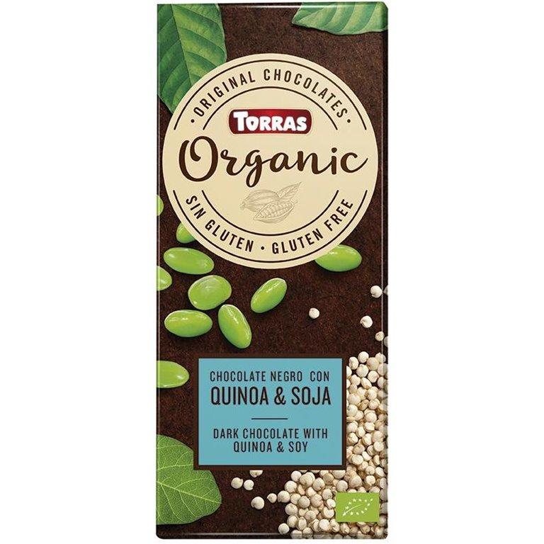 Chocolate Negro con Quinoa y Soja Bio 100g