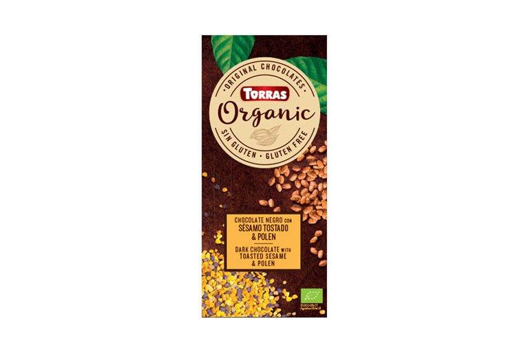 Chocolate negro con sésamo y polen - Torras