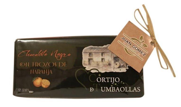 Dark Chocolate with orange pieces