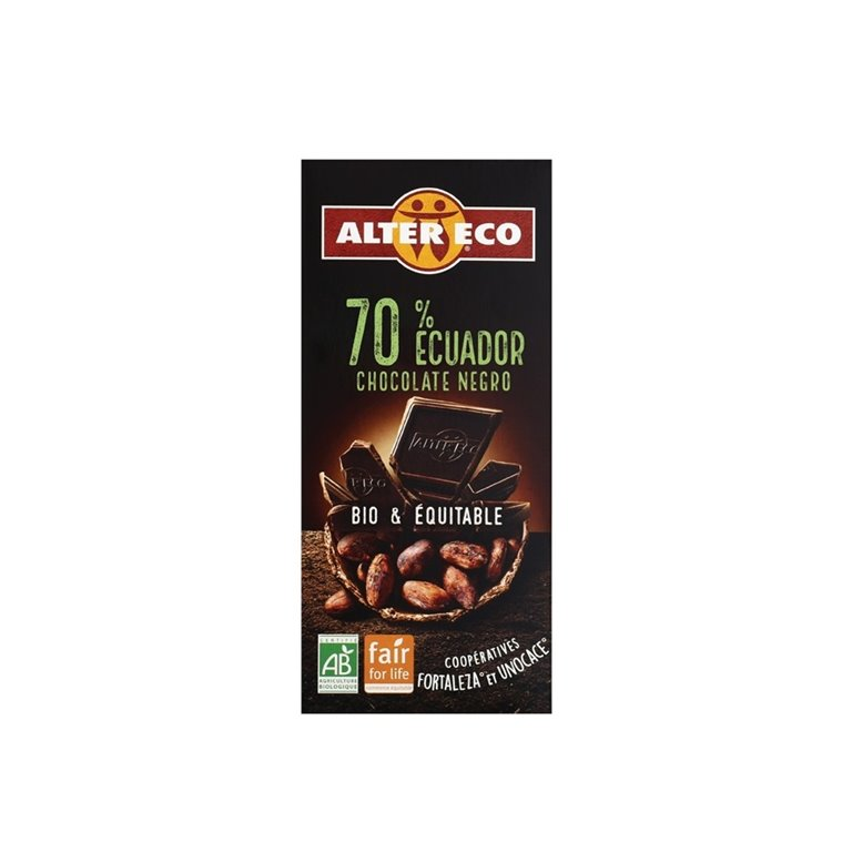 Chocolate Negro Ecuador 70% Bio Fairtrade 100g