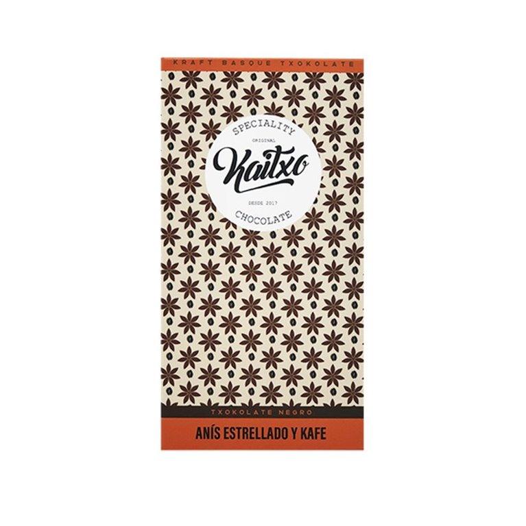 Chocolate Negro Kaitxo 75% anís y café 70gr.