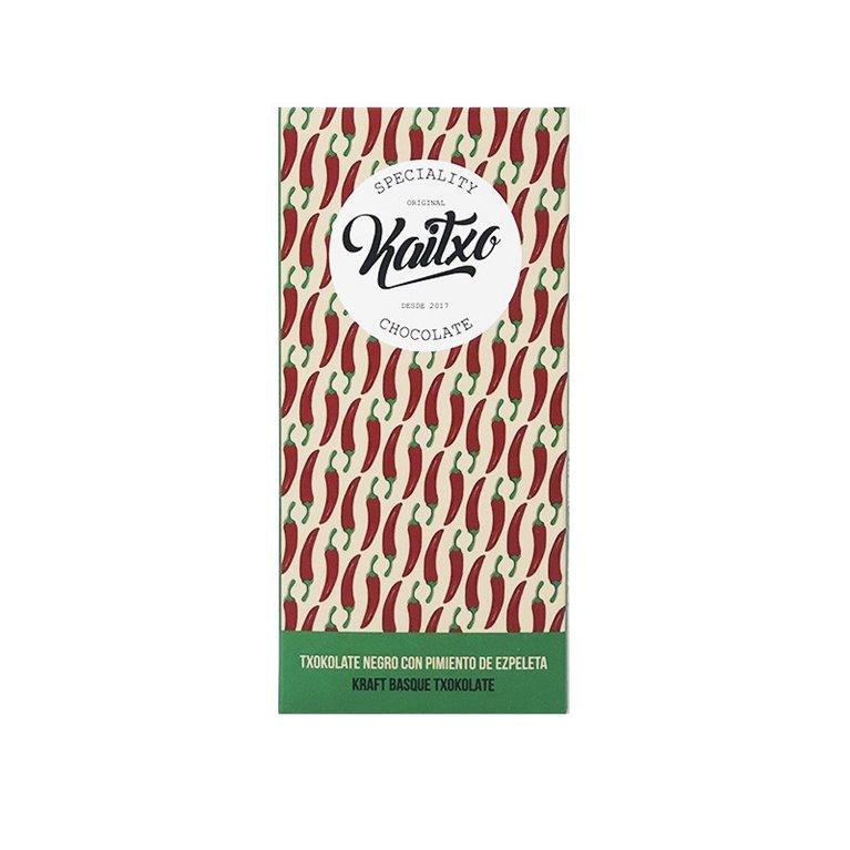 Chocolate Negro Kaitxo 75% Espelette 70gr.