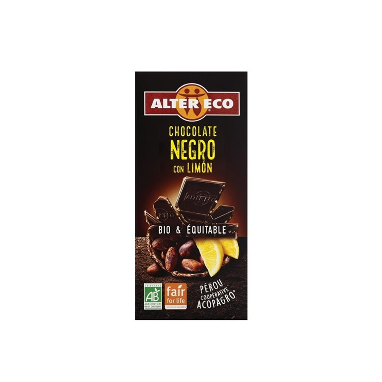 Chocolate Negro Limón Bio Fairtrade 100g