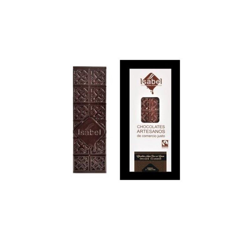 Chocolate negro origen Ecuador 65%  Isabel, 1 ud
