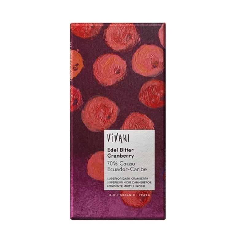 Chocolate Negro Superior con Trocitos de Arándanos Bio 100g