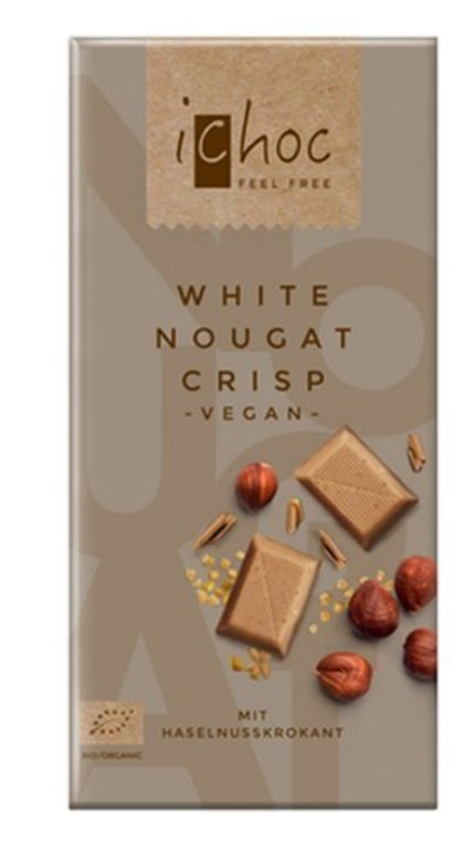 Chocolate nugat crisp vegan, 80 gr